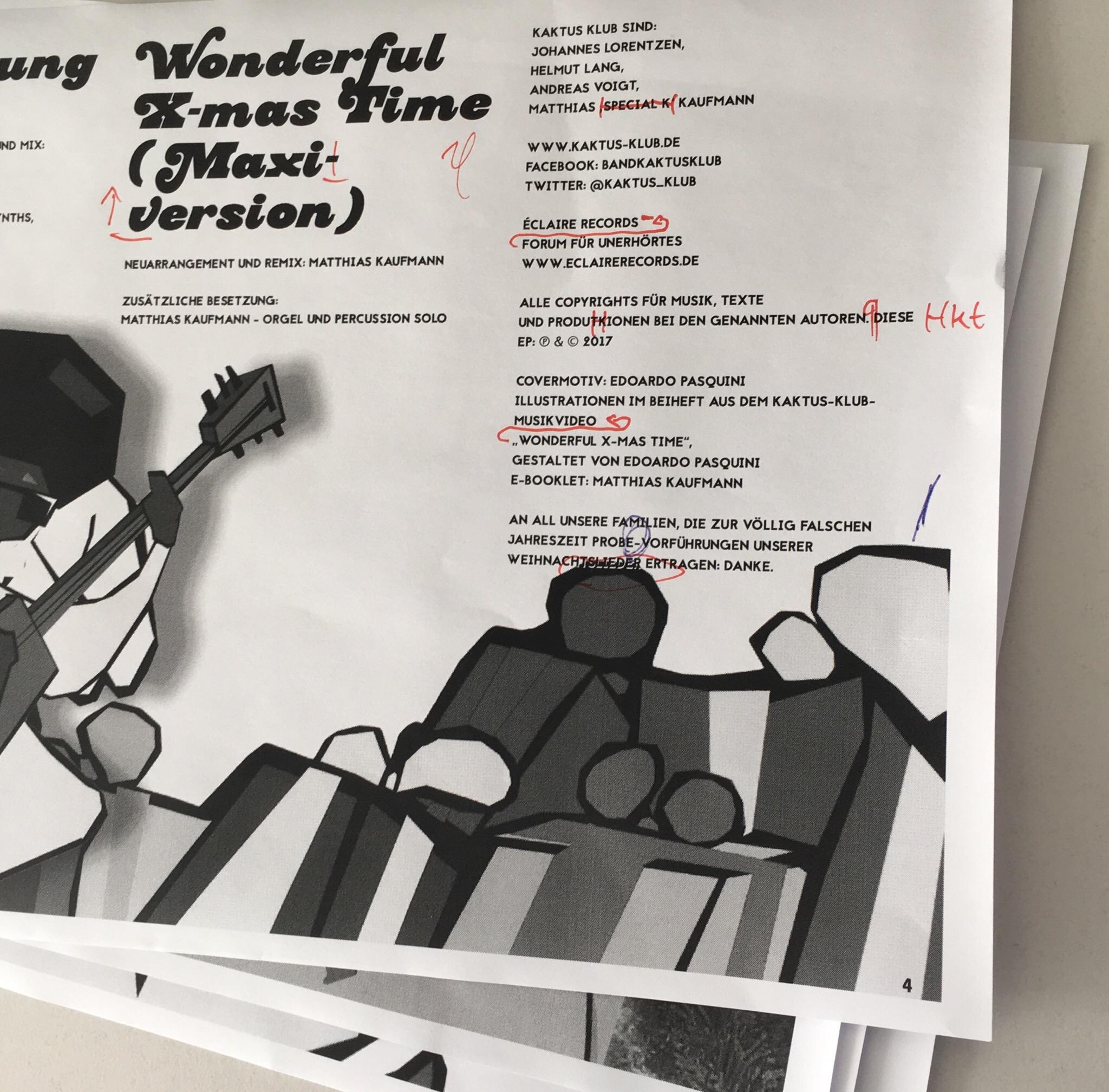 Letzte Fummelarbeiten – KAKTUS KLUB – Musik und Satire